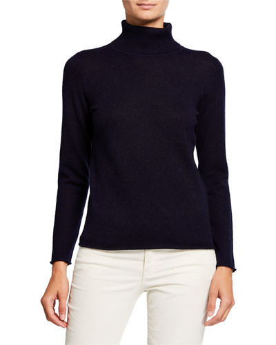 Cashmere Basic Turtleneck Sweater