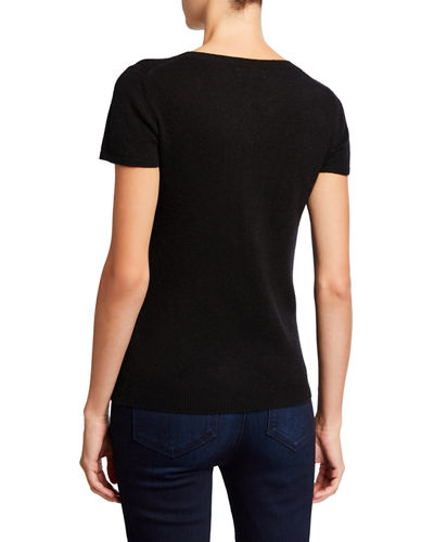 Cashmere Short-Sleeve Pullover