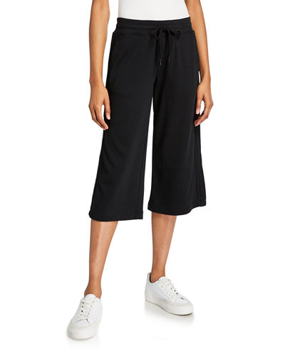 Pleated-Side Lounge Culottes