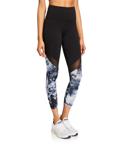 Desiree Tie-Dye Mid Calf Leggings
