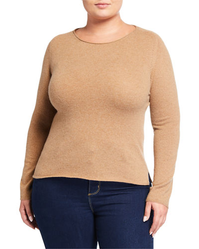 Plus Size Cashmere Crewneck Sweater