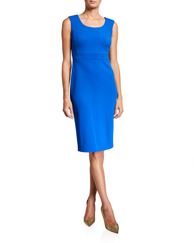 Elephant Crepe Sheath Dress