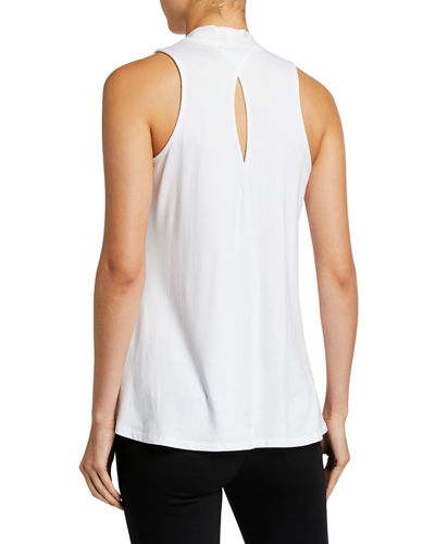 High-Low Sleeveless Swing Top