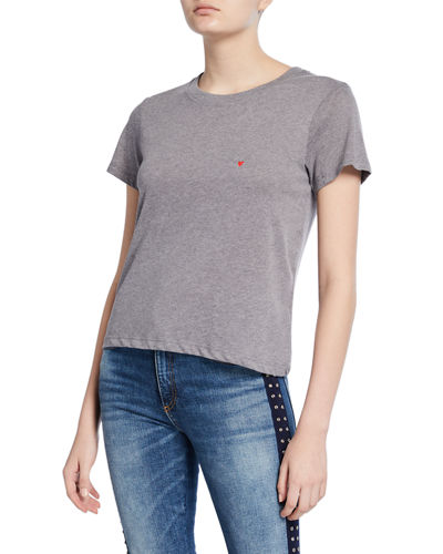 Vanessa Heart Embroidered Short-Sleeve Tee