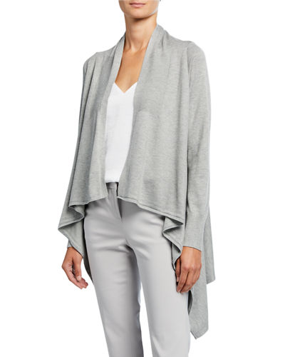 Long-Sleeve High-Low Cardigan