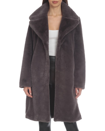 Long Faux-Fur Bunny Coat