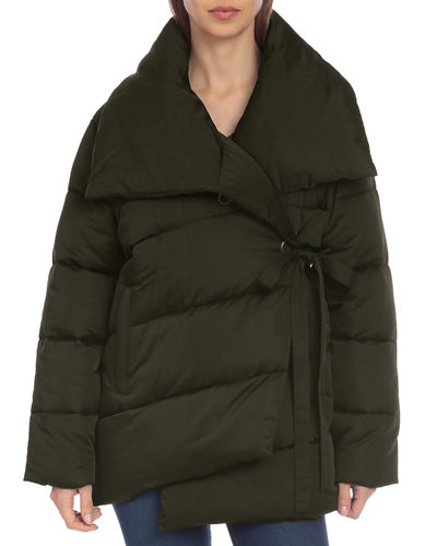 Oversized Wrap Puffer Jacket