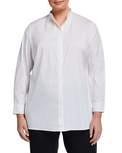 Plus Size Brayden Long-Sleeve Button-Down Blouse