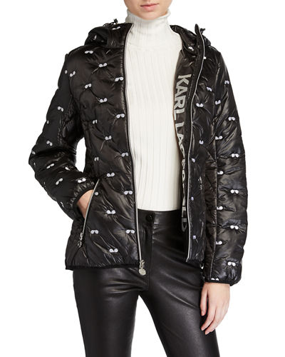 Sunglasses Embroidered Puffer Jacket