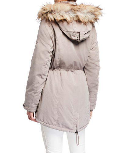 Faux-Fur-Trim Anorak