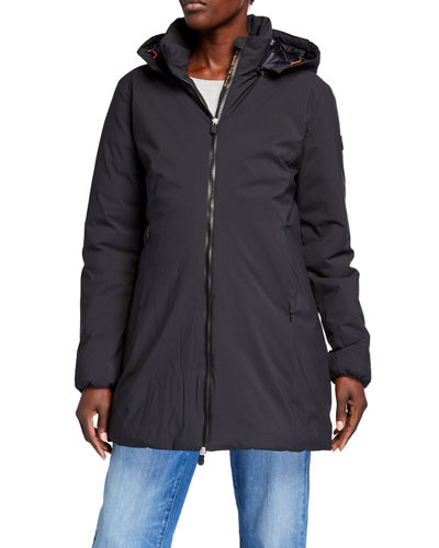 Puffer Hooded Rain Coat