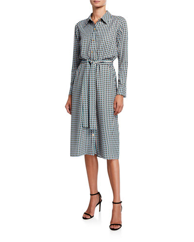 Button Down Midi Shirtdress