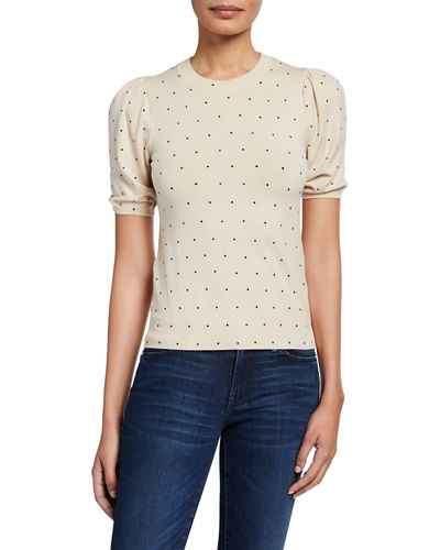 Polka Dot Short Sleeve Top