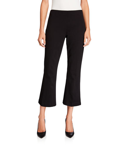 Cropped Ponte Flare Pant