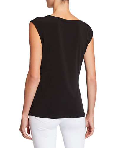 Sleeveless Top W Circle Hardware