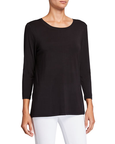 Scoop-Neck 3/4-Sleeve Tee