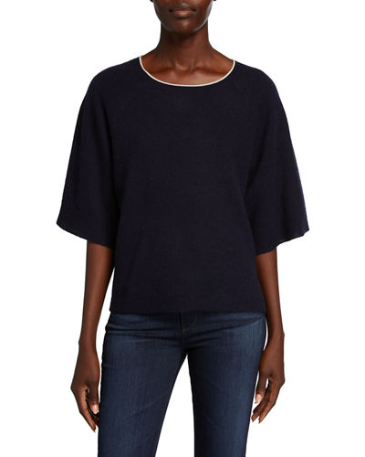 Cashmere Raglan-Sleeve Sweater