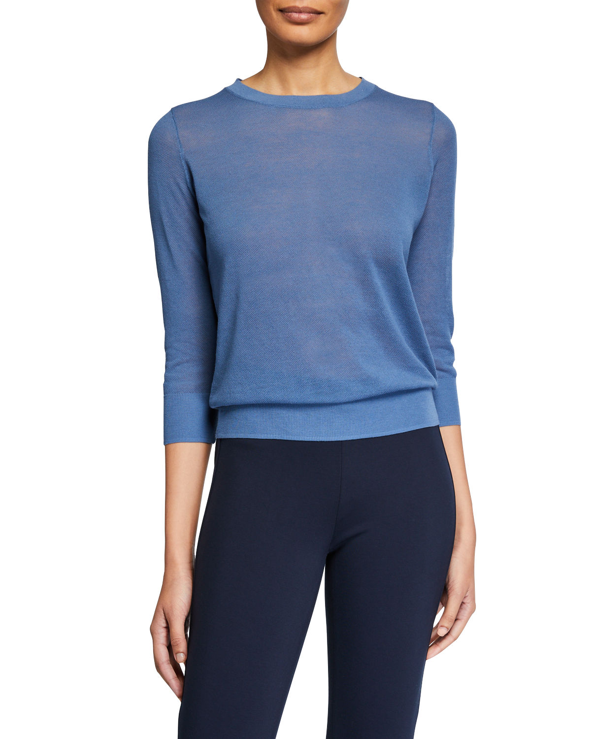 Vince 0 TEXTURED ELBOW-SLEEVE PULLOVER