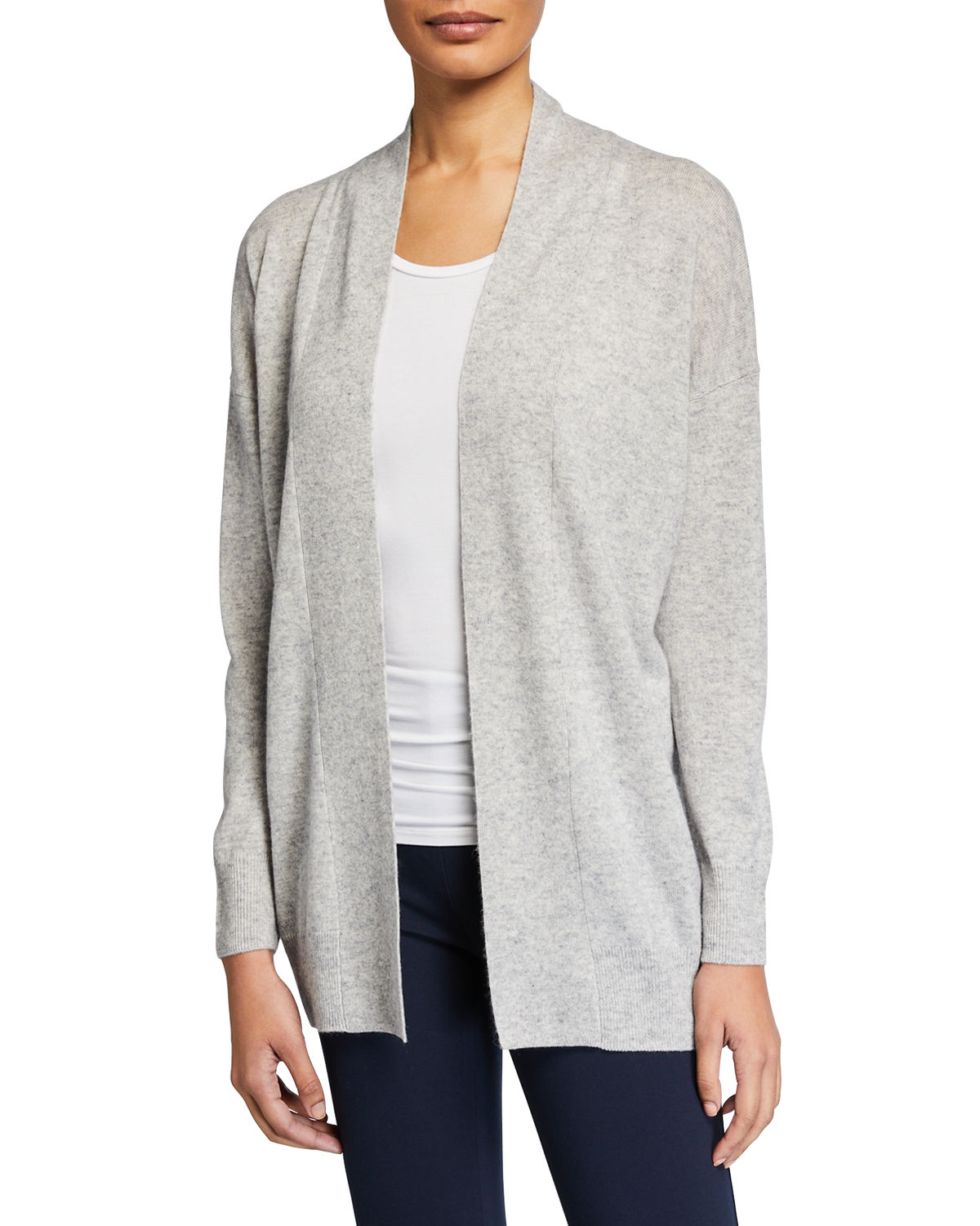 Vince Coats OPEN-FRONT DROP-SHOULDER WOOL/CASHMERE CARDIGAN