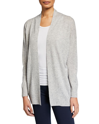 Open-Front Drop-Shoulder Wool/Cashmere Cardigan