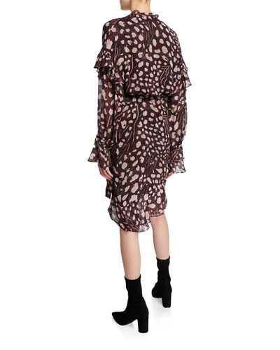 Linger Leopard-Print Wrap Dress