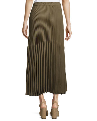 Accordion-Pleated Maxi Skirt