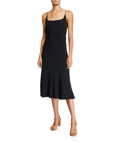 Joan Scoop-Neck Sleeveless Midi Dress