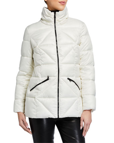 Diamond Puffer Hooded Coat