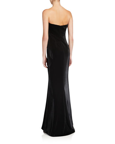 Steele Strapless Ruffle A-Line Evening Gown