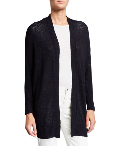 Oversized Batwing-Sleeve Cardigan