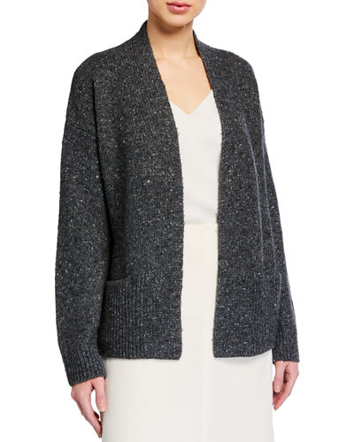 Open Rib Trim Cardigan