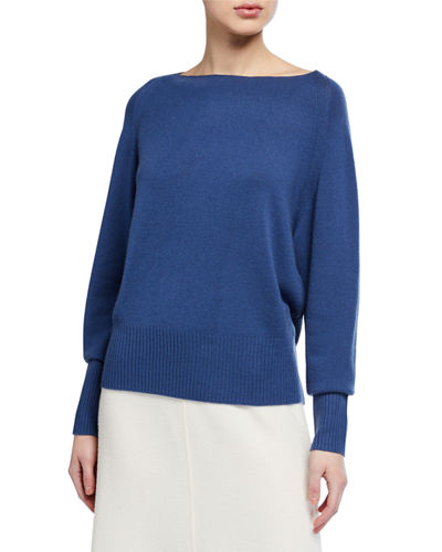Wool Cashmere Boat-Neck Sweater