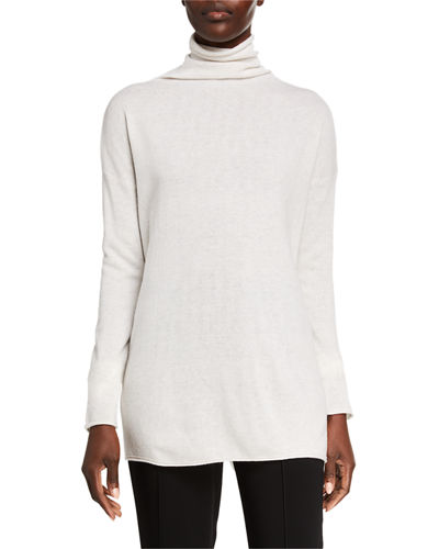 Cashmere Long Turtleneck Sweater