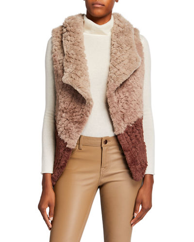 Two-Tone Faux-Fur Vest