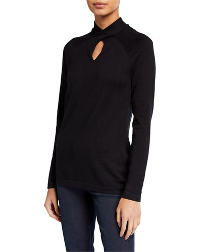 Twist Keyhole Neck Sweater