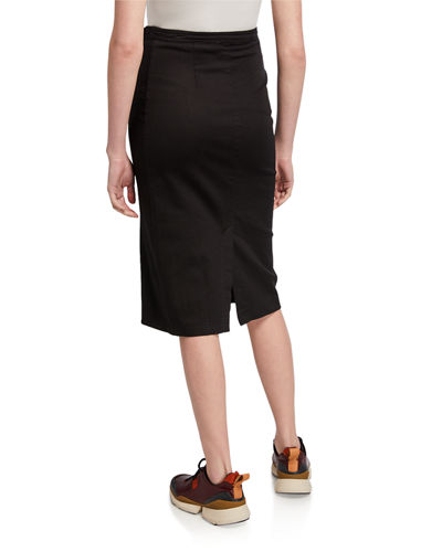 Eileen Asymmetrical Button-Front Skirt
