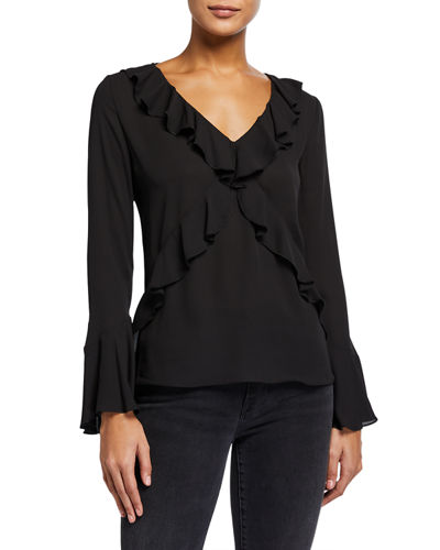 Nugget Ruffled Georgette Top