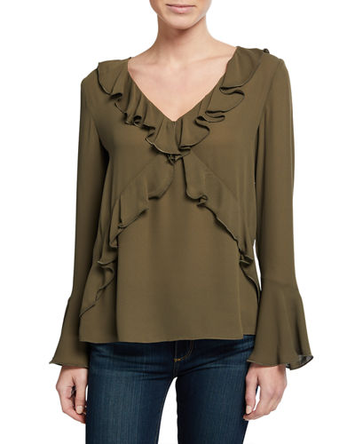 Bailey 44 Nugget Ruffled Georgette Top
