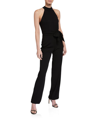 Halter Jumpsuit with Bow