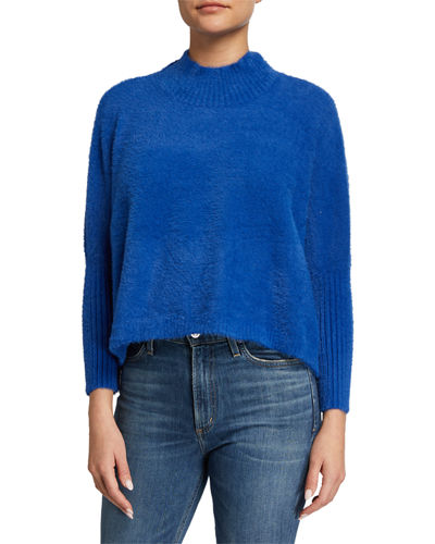 Mock-Neck Lush Sweater