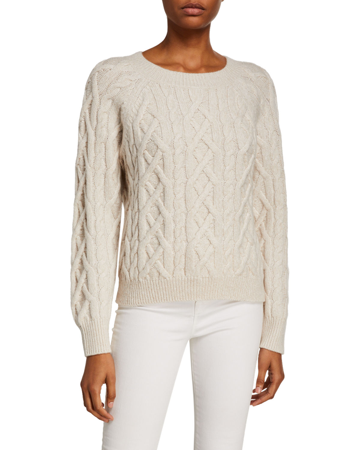 Vince Knits CABLE-KNIT SWEATER