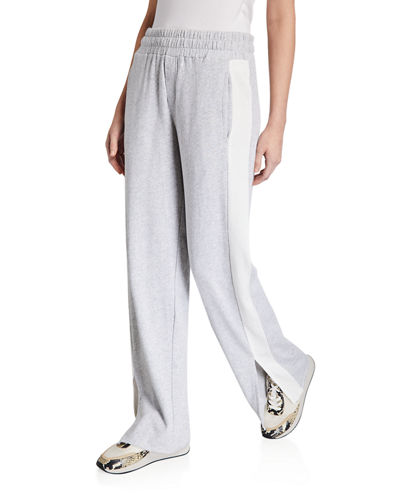Leigh High-Rise Side-Stripe Pull-On Pants