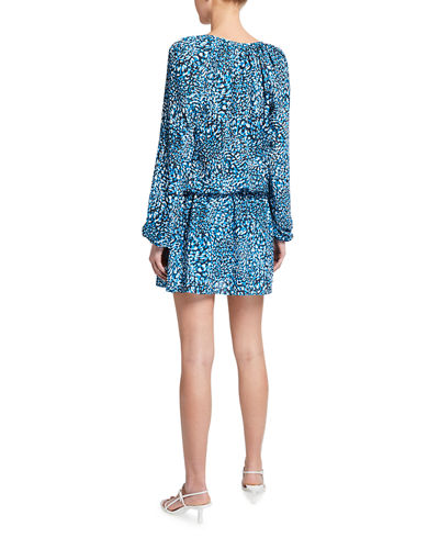 Landa Printed Blouson Mini Dress