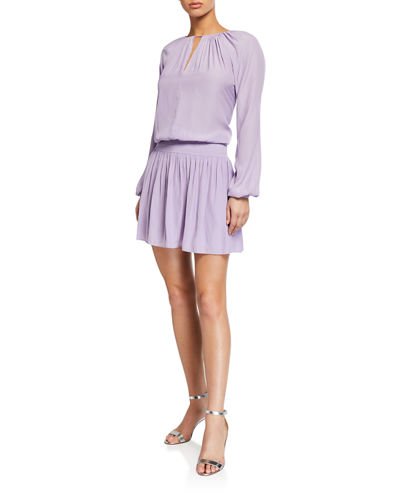 Shelly Keyhole Long Sleeve Dress