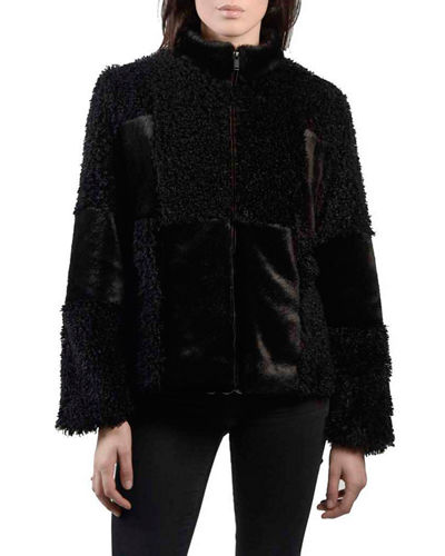 Patchwork Faux-Fur Coat
