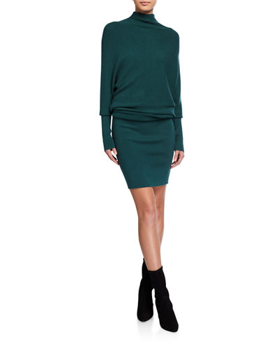 Dolman-Sleeve Sweaterdress