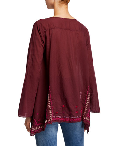 Wish Stitch Embroidered Cotton Tunic