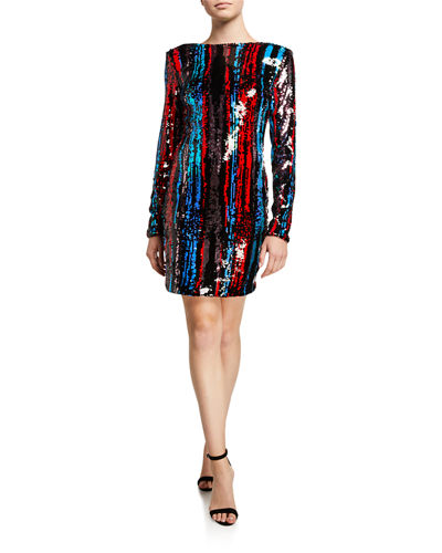 Fran Sequin Long Sleeve Dress