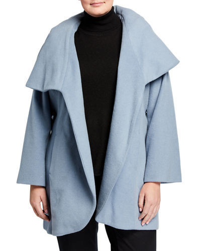 Plus Size Marla Wool-Blend Wrap Coat