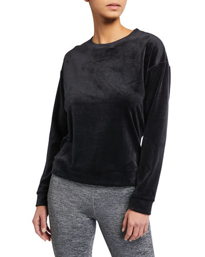 Velvet Long-Sleeve Sweatshirt